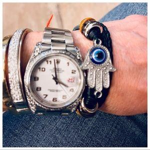 Hand Hamsa Cuff Bracelet